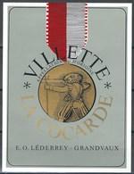 Etiquette De Vin Du Canton De Vaud  * Villette-La Cocarde * - Etiquettes