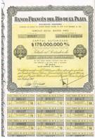 Titre Ancien -Banco Frances Del Rio De La Plata Sociedad Anonima  - Titulo De 1960 - N°225117 - Banque & Assurance