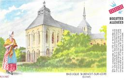 Biscottes GREGOIRE  -  Basilique St Benoit Sur Loire   ( Format = 15cm X 9,5cm ) - Biscottes