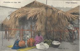 8VL-882: Exposition De Liège 1905 Village Sénégalais  Joueurs De Cora - Expositions