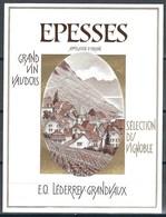 Etiquette De Vin Du Canton De Vaud  * Epesses  * - Etiquettes