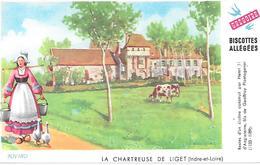 Biscottes GREGOIRE  -  La Chartreuse De Liget   ( Format = 15cm X 9,5cm ) - Zwieback