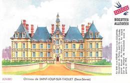 Biscottes GREGOIRE  -  Château De St Loup Sur Thouet  ( Format = 15cm X 9,5cm ) - Zwieback