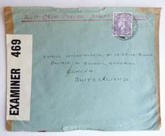 LETTRE RED CROSS CROIX ROUGE EXAMINEE PAR LA CENSURE 1942 BLACKPOOL LANDS GB Destination GENEVE - WW2 (II Guerra Mundial)