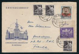 Auslandsbrief Von LAAGE Nach HANTECLOQUE (Frankreich) Mit MiNr. 303, 362 (3), 425, Portorichtig, -8.3.54 -15 - DDR