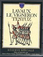 Etiquette De Vin Du Canton De Vaud  * Lavaux - Le Vigneron  * - Etiquettes