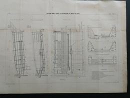 ANNALES PONTS Et CHAUSSEES  - Caisson Mobile Pour La Réparation Des Murs De Quais - Imp.L. Courtier 1897 (CLB14) - Public Works