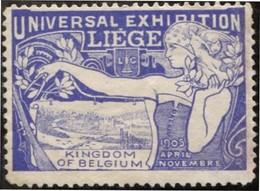 """1905 """"Vignette"""" Exposition Liège 1905 - 1905 – Liège (Belgium)"""