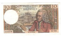 Billet 10 Francs France Voltaire 1-6-1972.Q. - 1962-1997 ''Francs''