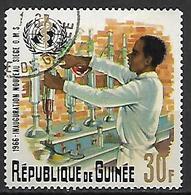 GUINEE    -   1966 .  Y&T N° 300 Oblitéré.    OMS  /  Laborantin  /  Médecine. - Guinée (1958-...)