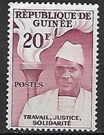 GUINEE    -   1959 .  Y&T N° 14 * .  Président  /  Flambeau - Guinée (1958-...)