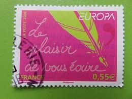 Timbre France YT 4181 - Europa - L'écriture D'une Lettre - Plume D'oie Et De Stylo - 2008 - France