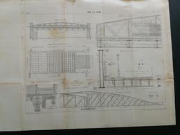 ANNALES PONTS Et CHAUSSEES (Paris) - Pont J. F. LEPINE - Imp.L. Courtier 1899 (CLB15) - Travaux Publics