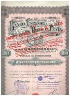 Titre Ancien -Banco Espanol Del Rio De La Plata Sociedad Anonima  - Titulo De 1924 - N°066495 - Banque & Assurance