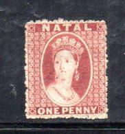 APR269 - NATAL SUD AFRICA  1862 , Yvert N. 11 *  Linguellato (2380A) . Poco Fresco - Sud Africa (...-1961)