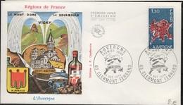 FDC 435 - FRANCE N° 1850 Auvergne Sur FDC 1975 - FDC