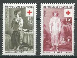 France YT N°1089/1090 Croix-Rouge 1956 Neuf/charnière * - France