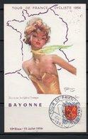 TOUR DE FRANCE CYCLISTE 1956 10ème ETAPE BORDEAUX / BAYONNE - CARTE 11/23 - Maximumkarten