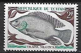 TCHAD    -   1969 .  Y&T N° 216 **.   Poisson  /  Tilapia - Tchad (1960-...)
