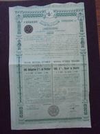 EMPIRE OTTOMAN - TRESOR IMPERIAL - OBLIGATION 5% DE 500 FRS - CONSTANTINOPLE 1913 - Shareholdings