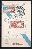 TOUR DE FRANCE CYCLISTE 1954 10ème ETAPE BORDEAUX / BAYONNE - CARTE 10/24 - Maximumkarten