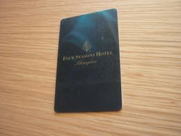 China Shanghai Four Seasons Hotel Room Key Card (version 07A) - Cartes D'hotel