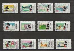 FRANCE Série Mickey Et La FRANCE Cachets Ronds - Adhésifs (autocollants)