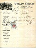 PARIS.FABRIQUE DE BECS DE CANE.TOURNAGE DE BUFFLE & D'IVOIRE.GOLLOT FRERES 14 & 16 BOULEVARD BARBES. - France