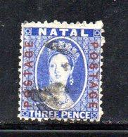 APR275 - NATAL SUD AFRICA  1869 , Yvert N. 24 Usato.  (2380A) . CC - Sud Africa (...-1961)