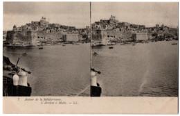 CPA Stereo MALTE - 7. L'Arrivée à Malte - LL (Autour De La Méditerranée) - Malte