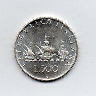 """ITALIA - 1970 - 500 Lire """"Caravelle"""" - Argento 835 - Peso 11 Grammi - (MW2198) - 1946-… : Repubblica"""