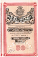 Titre Ancien  - Sindicato De Estudios Mineros Del Norte De Espana  - Titulo De 1929 - N°2895 - Mines