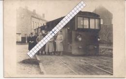 """TERHAGEN-TERHAEGEN-RUMST""""FOTOKAART STOOMTRAM  TRAMSTATIE TIJDENS DE DUITSE BEZETTING 1916""""UITERST ZELDZAAM!!!!! - Rumst"""