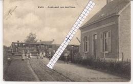"""PULLE-ZANDHOVEN """" AANKOMST VAN DE STOOMTRAM""""HOELEN 3620  TYPE 5 UITGIFTE 1907 - Zandhoven"""