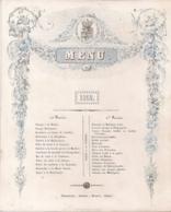 "ANTWERPEN-ANVERS""MENU 1852-PUNCH A LA ROMAINE"" LITH.MAYER-216/174MM - Porseleinkaarten"