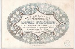 COURTRAI-KORTRIJK-LOUIS PICQUEU-GROOTHANDEL IN GEBREIDE WOLLEN GOEDEREN-LITH.GYSELINCK-115/78MM - Cartes Porcelaine