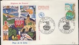 FDC 440 - FRANCE N° 1849 Pays De La Loire Sur FDC 1975 - FDC