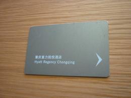 China Chongqing Hyatt Regency Hotel Room Key Card - Cartes D'hotel