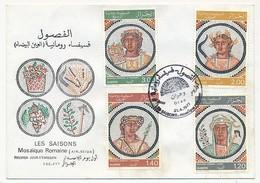ALGERIE - Enveloppe FDC - Mosaïque Romaine - Les Saisons - Oran 1977 - Algeria (1962-...)