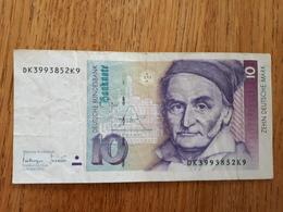 10 Deutsche Mark  10/1993 Bon état - [ 7] 1949-… : RFA - Rep. Fed. Tedesca