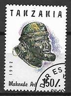 TANZANIE    -   1992 .  Oblitéré.   Art Makonde - Tanzanie (1964-...)