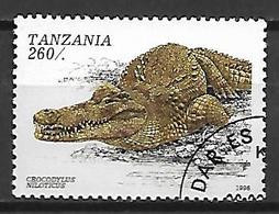 TANZANIE    -   1996 .  Oblitéré.    Crocodile - Tanzanie (1964-...)