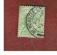 GRAN BRETAGNA (UNITED KINGDOM) -  SG 217 - 1904 KING EDWARD VII   1/2 GREEN YELLOW - USED° - 1902-1951 (Re)