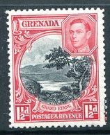Grenada 1938-50 KGVI Pictorials - 1½d Grand Etang - P.12½ - HM (SG 155) - Grenada (...-1974)