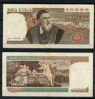 20.000 LIRE TIZIANO SERIE AA 139348 D  - MB (12/13/R) - [ 2] 1946-… : Repubblica