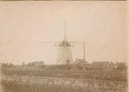 OMGEVING GENT DEURLE ST.MARTENS LATEM  - ZELDZAME FOTO 12 X 9 CM BEGIN 1900 MOLEN MET MOLENHOEVE - ZIE 4 AFBEELDINGEN - Sint-Martens-Latem