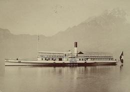 HORW (Luzern) Dampfschiff DS GERMANIA Auf Dem Vierwaldstättersee Stempel Schiff Unterwalden - LU Lucerne