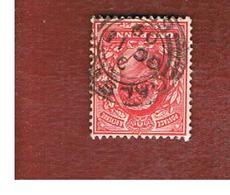 GRAN BRETAGNA (UNITED KINGDOM) -  SG 219 - 1902 KING EDWARD VII   1  RED  - USED° - 1902-1951 (Re)