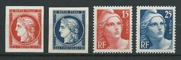 FRANCE 1949 . Série N°s 830 à 833 . Neufs ** (MNH) - France