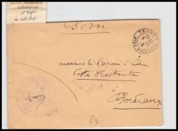 52447 Hautes Pyrénées Tarbes 1915 Voiture Hopital Radiologie Sante Guerre 1914/1918 War Devant De Lettre Front Cover - Marcophilie (Lettres)